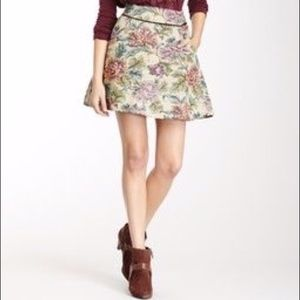 Free People Floral Tapestry Circle Skirt